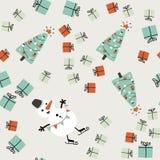 Απλό άνευ ραφής σχέδιο Χριστουγέννων Στοκ Φωτογραφία