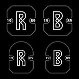 Απλό διάνυσμα διακριτικών επιστολών Ρ και Β Στοκ εικόνες με δικαίωμα ελεύθερης χρήσης