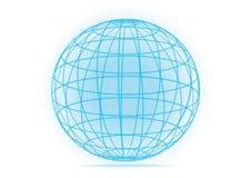 Απλό διανυσματικό εικονίδιο γήινων σφαιρών πλέγματος Στοκ Φωτογραφίες