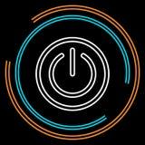 Απλό διανυσματικό εικονίδιο γραμμών δύναμης λεπτό απεικόνιση αποθεμάτων