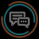 Απλό διανυσματικό εικονίδιο γραμμών συνομιλίας λεπτό ελεύθερη απεικόνιση δικαιώματος
