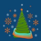 Απλό εποχιακό υπόβαθρο Χαρούμενα Χριστούγεννας Ψηφιακό σχέδιο ελεύθερη απεικόνιση δικαιώματος