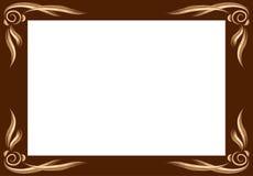 Απλό πλαίσιο με τις απλές βούρτσες διανυσματική απεικόνιση