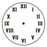Απλό ρολόι με τους μαύρους ρωμαϊκούς αριθμούς που απομονώνονται στον άσπρο διανυσματικό κύκλο υποβάθρου χωρίς σχέδιο υποβάθρου βε ελεύθερη απεικόνιση δικαιώματος