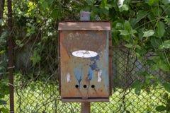 Απλό σχέδιο υποβάθρου φωτογραφιών της ταχυδρομικής θυρίδας χάλυβα με το ελεύθερο clea στοκ εικόνα με δικαίωμα ελεύθερης χρήσης