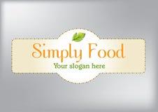 Απλό σύγχρονο λογότυπο για την επιχείρηση εστιατορίων ή τροφίμων στοκ φωτογραφία με δικαίωμα ελεύθερης χρήσης