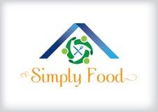 Απλό σύγχρονο λογότυπο για το εστιατόριο στοκ εικόνες