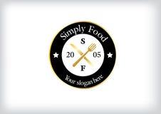 Απλό σύγχρονο λογότυπο για το εστιατόριο στοκ φωτογραφίες