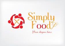 Απλό σύγχρονο λογότυπο για το εστιατόριο στοκ φωτογραφίες με δικαίωμα ελεύθερης χρήσης