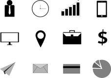 Απλό σύνολο επιχειρησιακών εικονιδίων Περιέχει τέτοια εικονίδια Στοκ Εικόνα