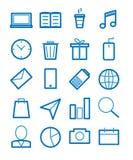 Απλό σύνολο σχετικών διανυσματικών εικονιδίων γραμμών διανυσματική απεικόνιση