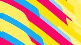 Απλό υπόβαθρο από τις minimalistic μαγικές πολύχρωμες αφηρημένες φωτεινές γραμμές κυμάτων των λουρίδων των γεωμετρικών μορφών Δια διανυσματική απεικόνιση