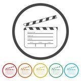 Απλό χτύπημα κινηματογράφων διανυσματική απεικόνιση