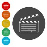 Απλό χτύπημα κινηματογράφων απεικόνιση αποθεμάτων