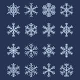 απλό snowflake 2 καθορισμένο μορφών διανυσματική απεικόνιση
