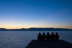 αποβάθρα ανθρώπων Στοκ Εικόνες