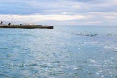 Αποβάθρα από τη Μαύρη Θάλασσα στοκ φωτογραφία