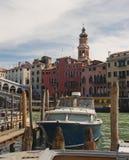 αποβάθρα Βενετία βαρκών Στοκ Φωτογραφίες