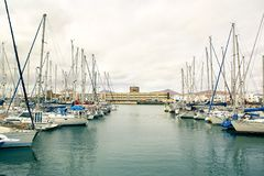 Αποβάθρα γιοτ Arrecife Στοκ φωτογραφία με δικαίωμα ελεύθερης χρήσης