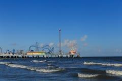 Αποβάθρα ευχαρίστησης νησιών Galveston Στοκ φωτογραφίες με δικαίωμα ελεύθερης χρήσης