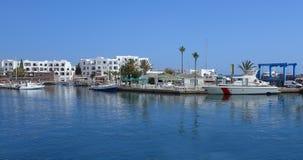 Αποβάθρα θάλασσας στην Τυνησία Λιμένας EL Kantaoui Στοκ Φωτογραφία
