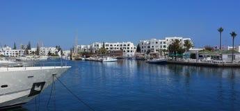 Αποβάθρα θάλασσας στην Τυνησία Λιμένας EL Kantaoui Στοκ φωτογραφία με δικαίωμα ελεύθερης χρήσης