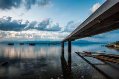 Αποβάθρα και βάρκες βαρκών Στοκ Εικόνα