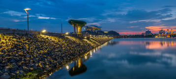 Αποβάθρα και ηλιοβασίλεμα ΙΙ Στοκ Εικόνες
