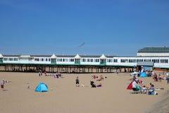 Αποβάθρα και παραλία του ST Anne ` s στην s--ο-θάλασσα του ST Anne ` Στοκ φωτογραφία με δικαίωμα ελεύθερης χρήσης