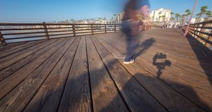 Αποβάθρα Καλιφόρνιας Oceanside timelapse στο ηλιοβασίλεμα απόθεμα βίντεο