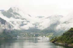 Αποβάθρα Νορβηγία Geiranger στοκ εικόνες με δικαίωμα ελεύθερης χρήσης
