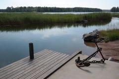 Αποβάθρα, νότια Φινλανδία Στοκ Φωτογραφίες
