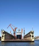 αποβάθρα ξηρά Στοκ φωτογραφία με δικαίωμα ελεύθερης χρήσης