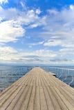 αποβάθρα ξύλινη Στοκ φωτογραφία με δικαίωμα ελεύθερης χρήσης