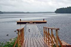 αποβάθρα ξύλινη Στοκ Φωτογραφίες