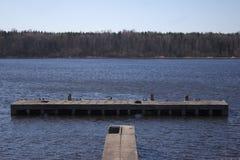 Αποβάθρα ποταμών Στοκ Φωτογραφία