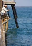 Αποβάθρα που αλιεύει στην αυτοκρατορική παραλία Καλιφόρνια Στοκ Εικόνες