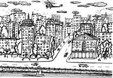 Αποβάθρα πόλεων απεικόνιση αποθεμάτων
