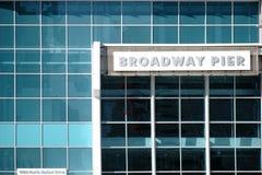 Αποβάθρα Σαν Ντιέγκο Broadway Στοκ φωτογραφία με δικαίωμα ελεύθερης χρήσης