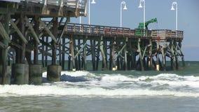 Αποβάθρα σε Daytona Beach απόθεμα βίντεο