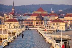 Αποβάθρα σε Sopot στο πρωί Στοκ εικόνες με δικαίωμα ελεύθερης χρήσης
