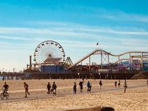 Αποβάθρα στην παραλία της Σάντα Μόνικα, Καλιφόρνια στοκ φωτογραφίες