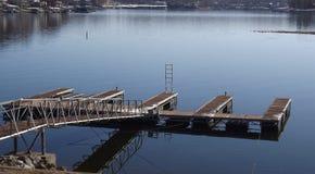 Αποβάθρα στη λίμνη Στοκ εικόνες με δικαίωμα ελεύθερης χρήσης