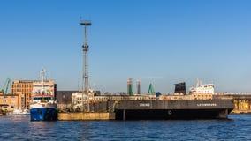 Αποβάθρα στο λιμένα του Gdynia Στοκ Εικόνες