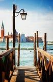 Αποβάθρα στο μεγάλο κανάλι, Βενετία Στοκ εικόνα με δικαίωμα ελεύθερης χρήσης