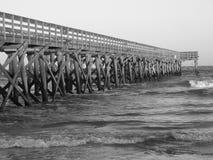 Αποβάθρα στο νησί της νότιας Καρολίνας φοινικών Στοκ Εικόνα