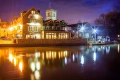 Αποβάθρα τη νύχτα Dorset Wareham Στοκ Φωτογραφίες