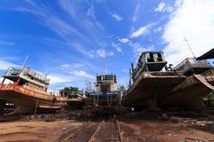 Αποβάθρα του αλιευτικού σκάφους στοκ φωτογραφίες