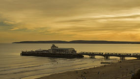 Αποβάθρα του Bournemouth, Αγγλία Στοκ εικόνα με δικαίωμα ελεύθερης χρήσης