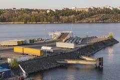 Αποβάθρα φόρτωσης για το πορθμείο Στοκ εικόνα με δικαίωμα ελεύθερης χρήσης